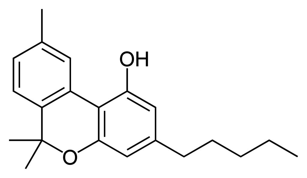 De moleculaire structuur van cannabinol
