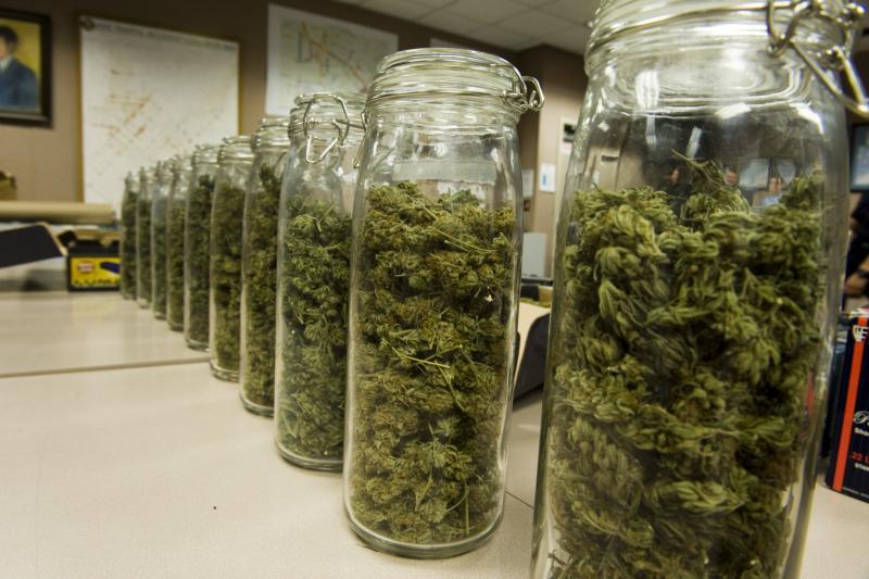 Als cannabis wordt gesneden en opgeslagen, begint de THC in de cannabis te vervallen tot CBN