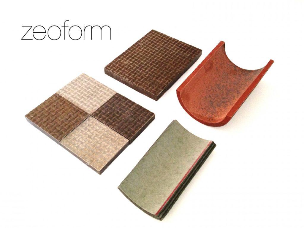 Zeoform ist ein Zellulose-Biokunststoff, der aus Hanf hergestellt werden und zu einer Vielzahl von Produkten geformt werden kann (© Zeoform)