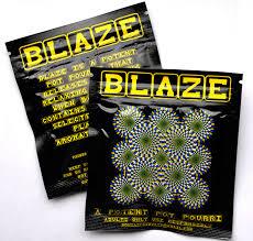 De substantie JWH-018 wordt ook aangetroffen in Blaze.