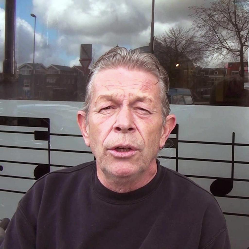 A photographic portrait of Haarlem coffeeshop owner Nol van Schaik.