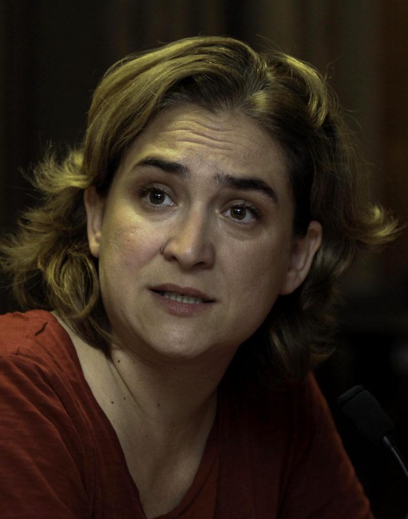 Ada Colau, l'actuelle maire de Barcelone.