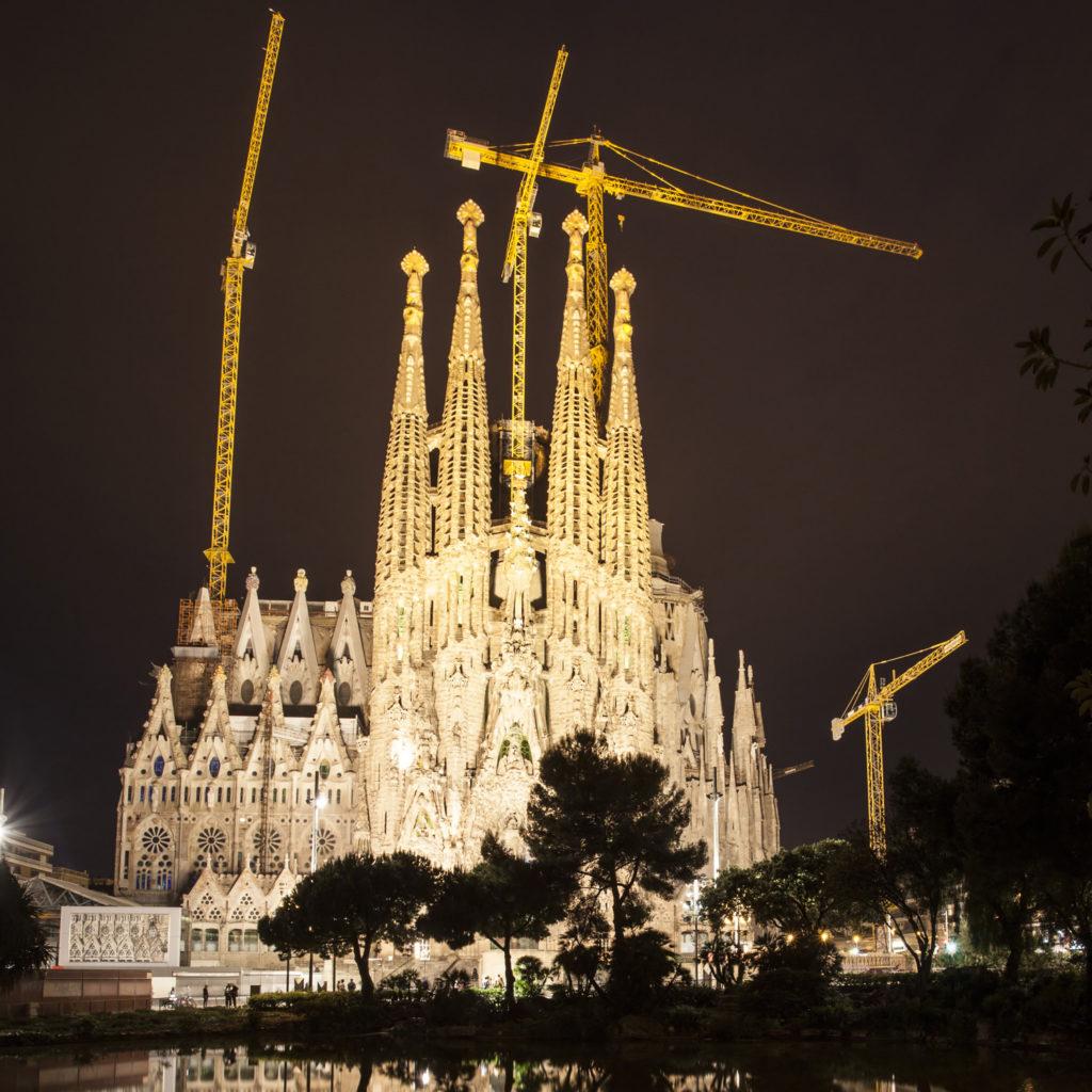 La Sagrada Familia, Barcelona's famous cathedral.