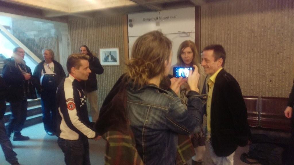 Rudolf Hillebrand (rechts), Augenblicke vor dem historischen Urteil
