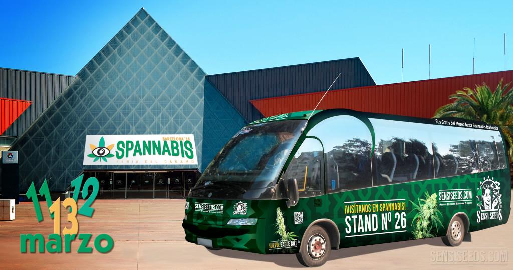 Autobús gratuito del Hash Marihuana Hemp Museum de Barcelona