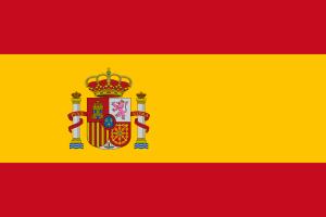 Zweidimensionale Grafik der Flagge von Spanien