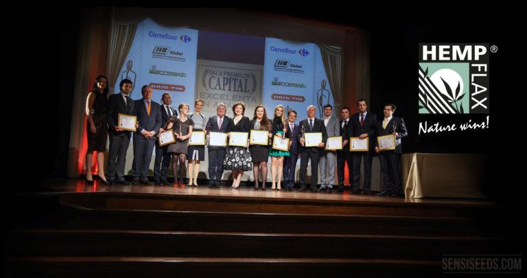 HempFlax reçoit un prix d'Excellence en Commerce en Romanie