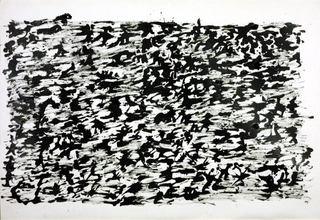 Cuadro de Michaux 'Dibujo de tinta china, 1961', pintado bajo la influencia de la mescalina