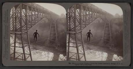 Una de las primeras fotos estéreo que crean la ilusión de profundidad con un espectador estéreo.