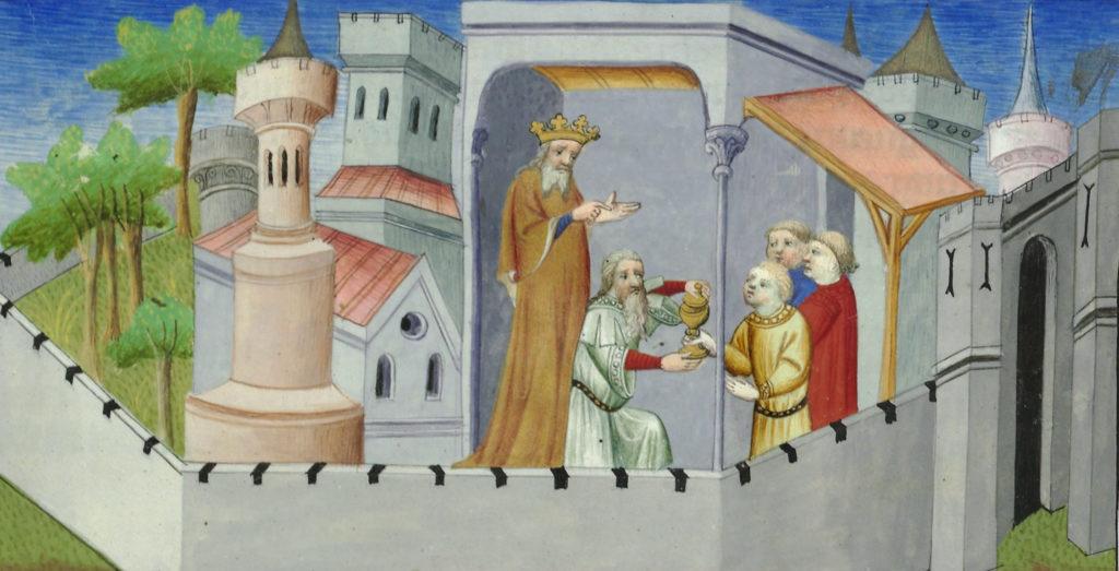 Una ilustración de Marco Polo, que supuestamente representa al líder de los Hashishin (Assassins) (© Wikimedia Commons)