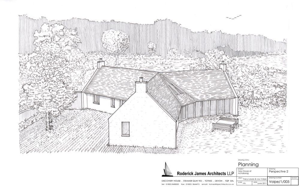 Pläne für neue Wohnhäuser auf Hanfbasis im schottischen Hochland (© achabeag.co.uk)