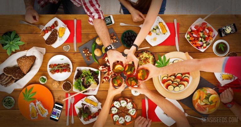 Alors vous organisez un dîner festif sur le thème du cannabis…