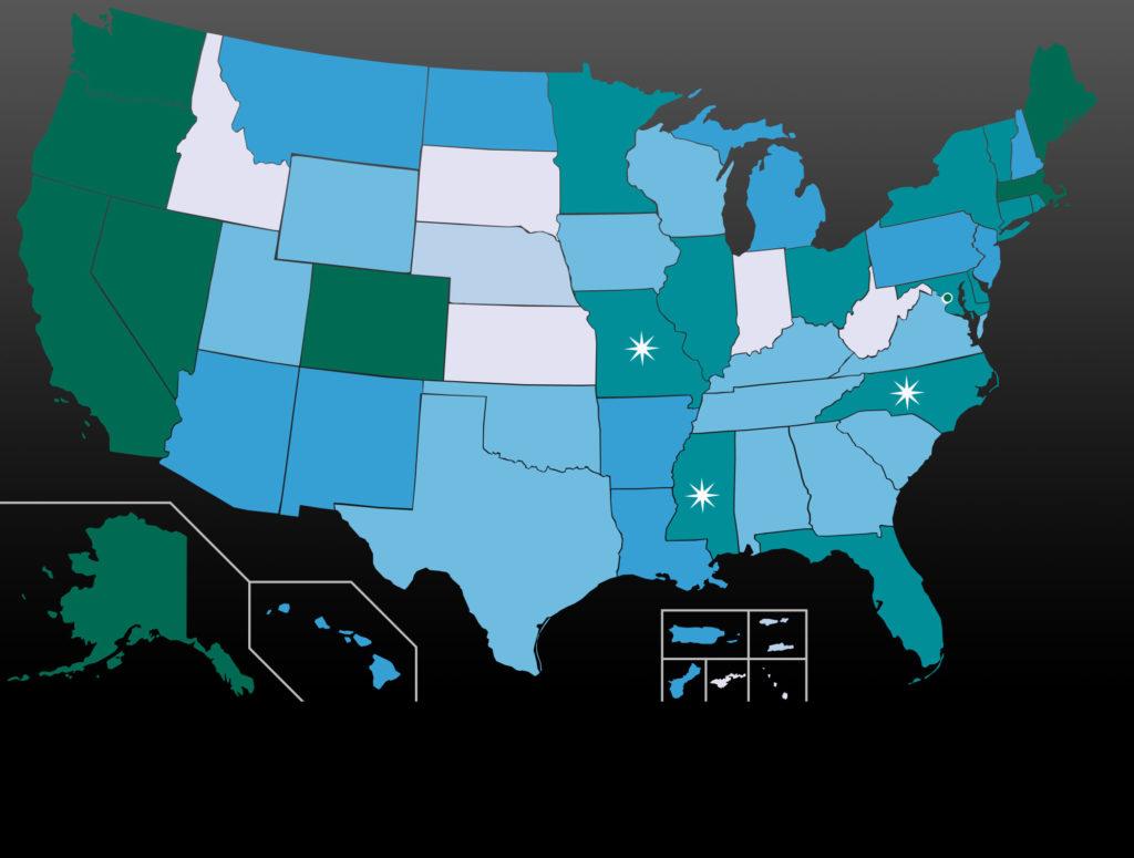 2017 könnten acht weitere US-Bundesstaaten Cannabis legalisieren (© Lokal_Profil)
