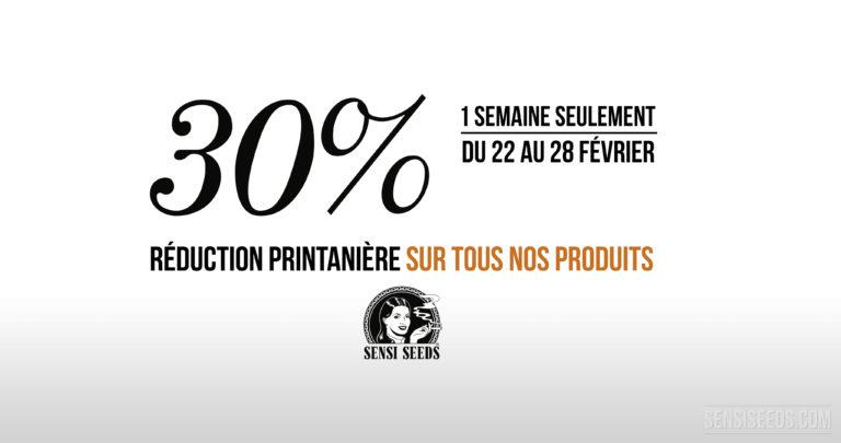 Réduction Printanière : -30% sur tous nos produits