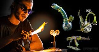 Die Wiederauferstehung der Cannabis-Glaskunst