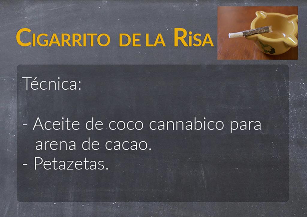 La recette de Cigarito de la Risa