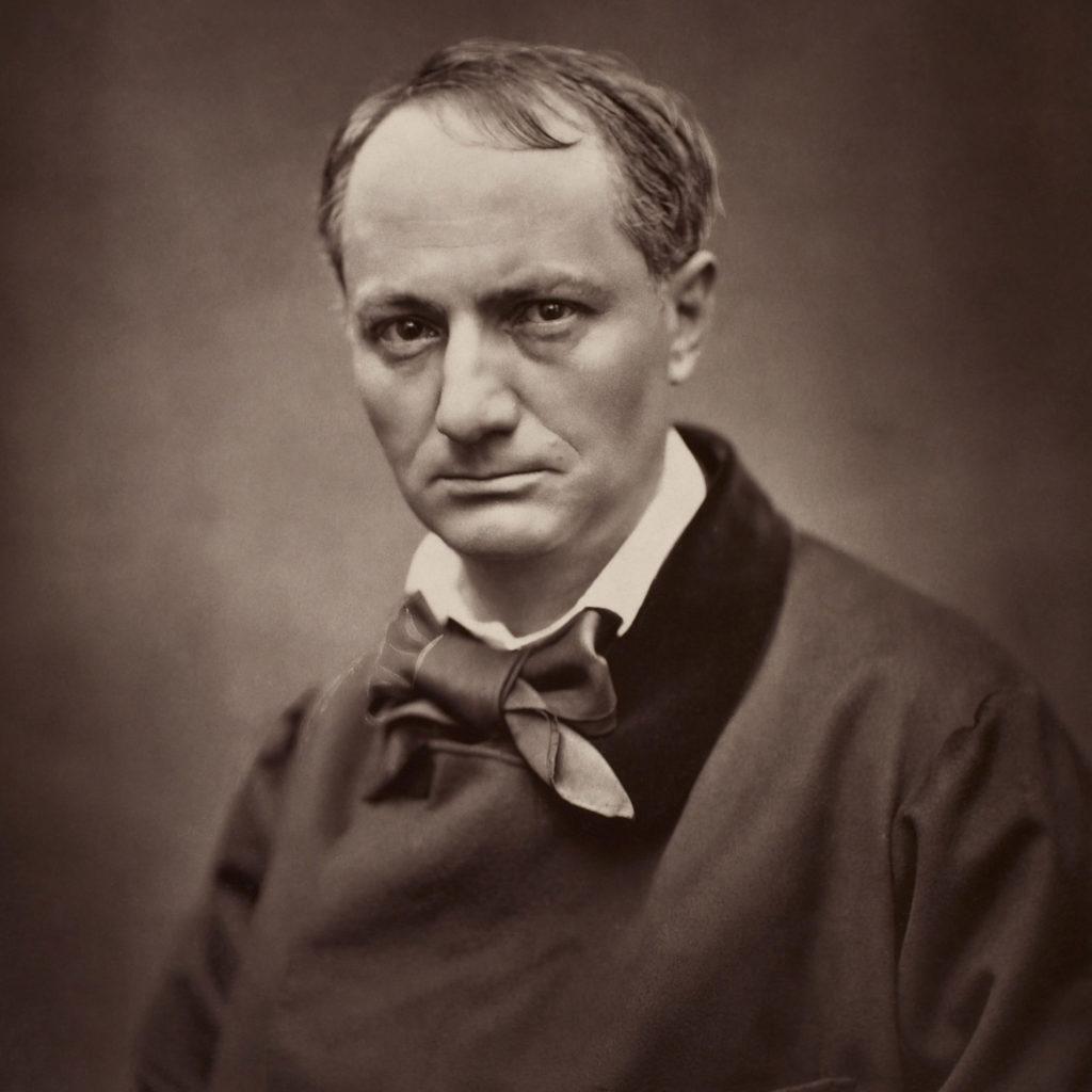 Portret van Charles Baudelaire, een Franse dichter uit de negentiende eeuw.