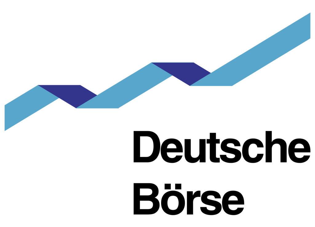 El logotipo de la bolsa de valores alemana.