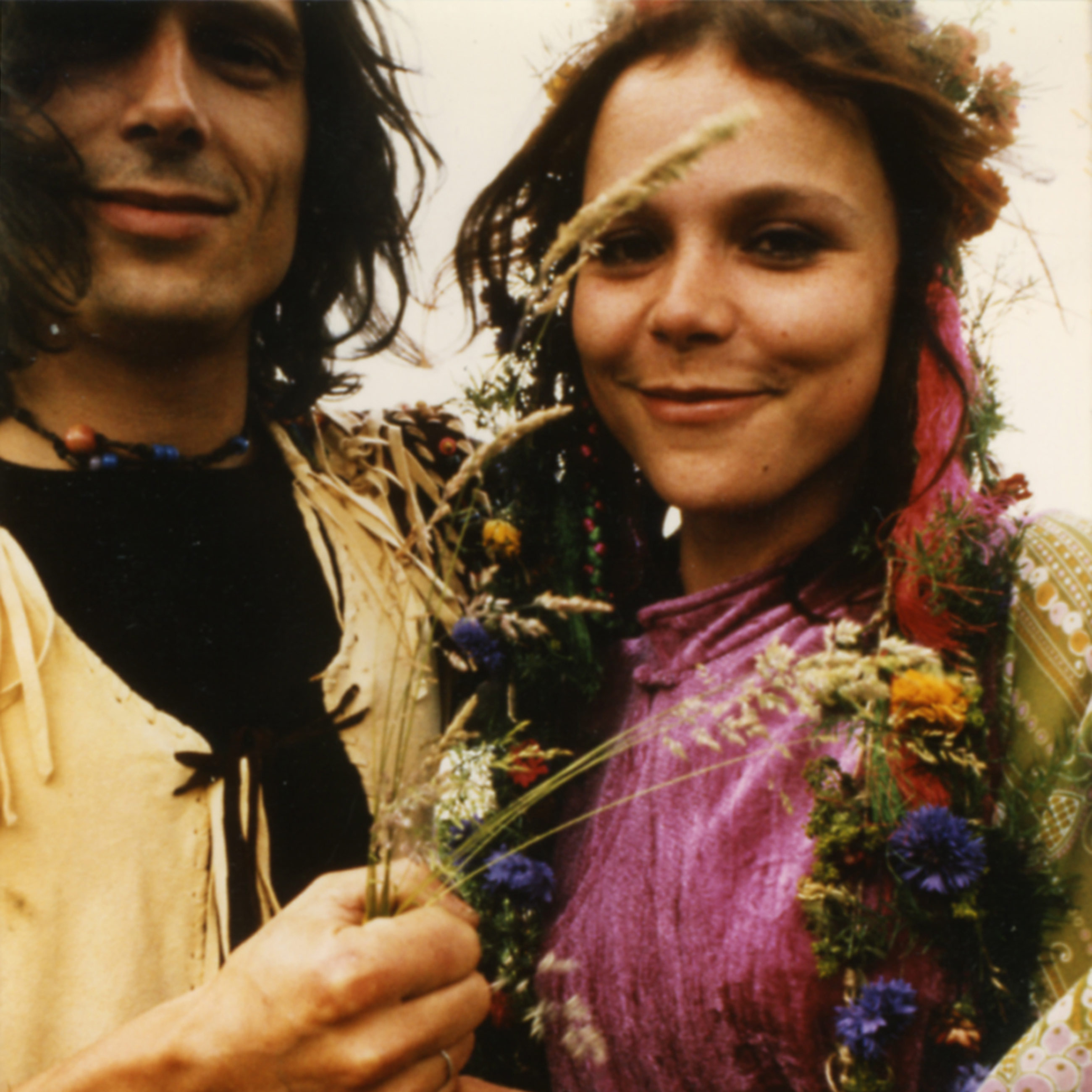 Wedding photograph of cannabis legend Mila Jansen and her husband Hans Swart, which was taken in 1971.