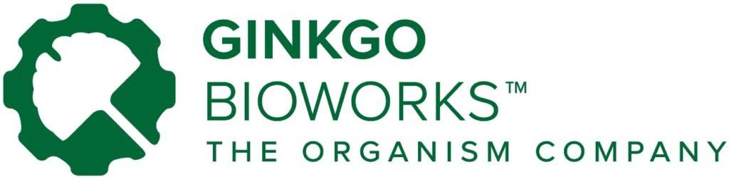 Logo van Ginkgo Bioworks met de stelling 'The Organism Company'.