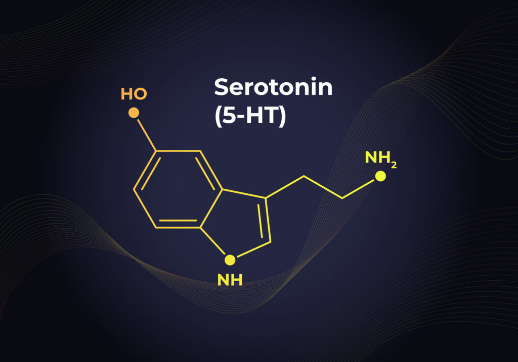 The chemical formula of serotonin