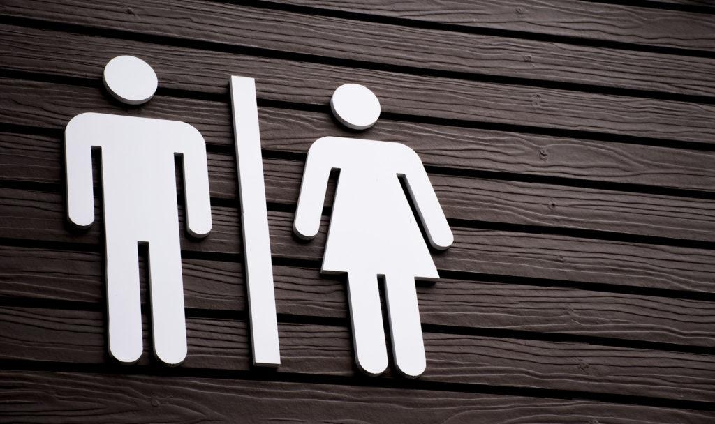 Een toilet teken
