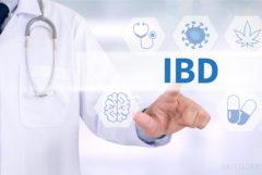 """Une personne dans une couche blanche et un stéthoscope en cliquant sur l'écrit """"IBD"""""""