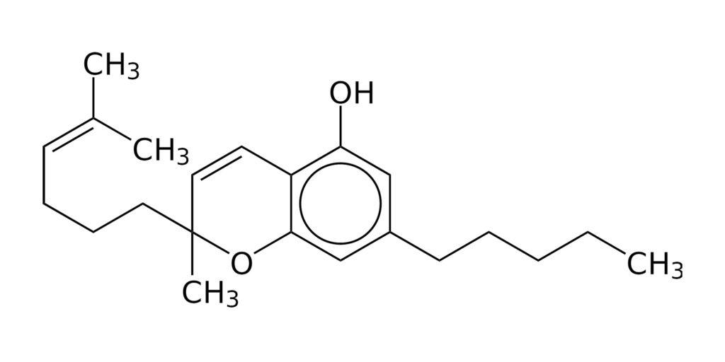 The chemical structure of cannabichromene