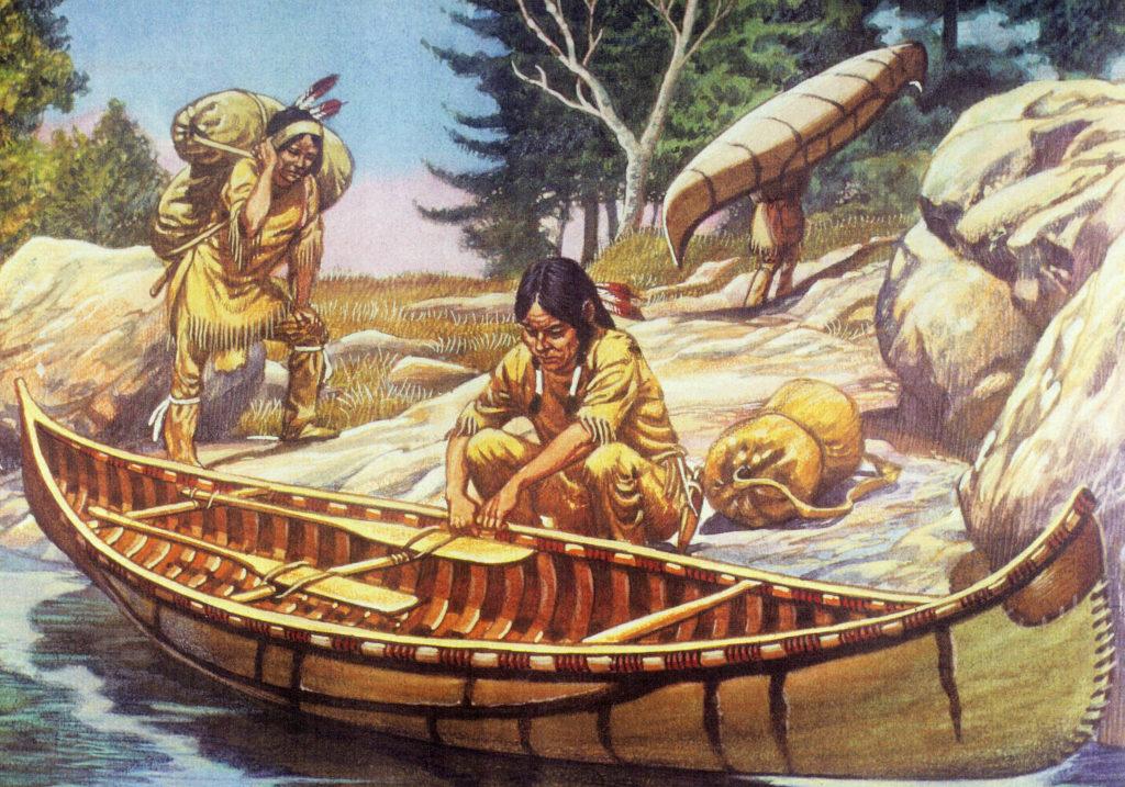 Une peinture d'une colonie de Clovis
