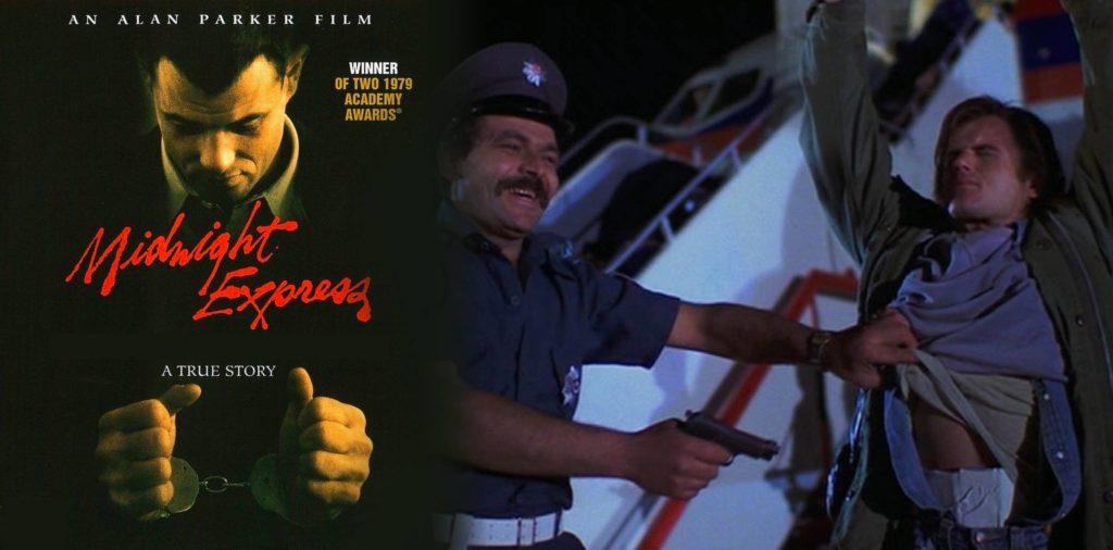 Une affiche de film de minuit Express et toujours du film