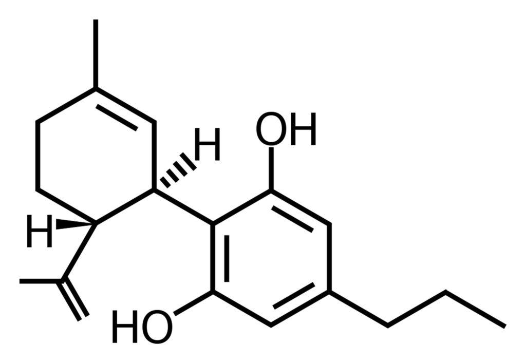 Die chemische Struktur von CBDV