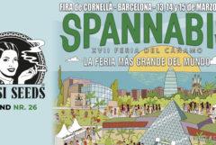 Een poster voor Spannabis 2020 en het Sensi Seeds-logo