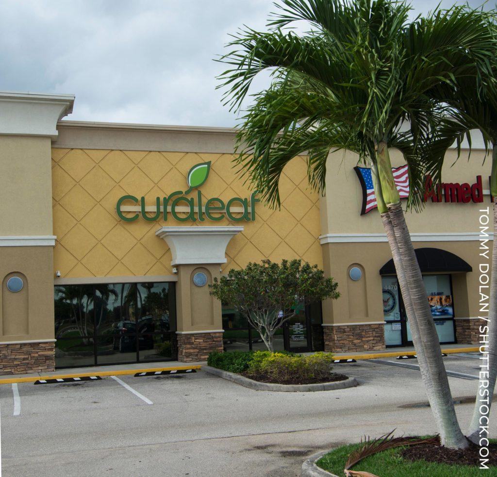 The shop front of 'curaleaf'