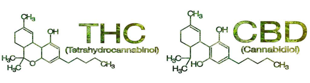 Die chemische Struktur von THC und CBD