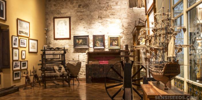 A room inside the Barcelona Hash Marihuana & Hemp Museum