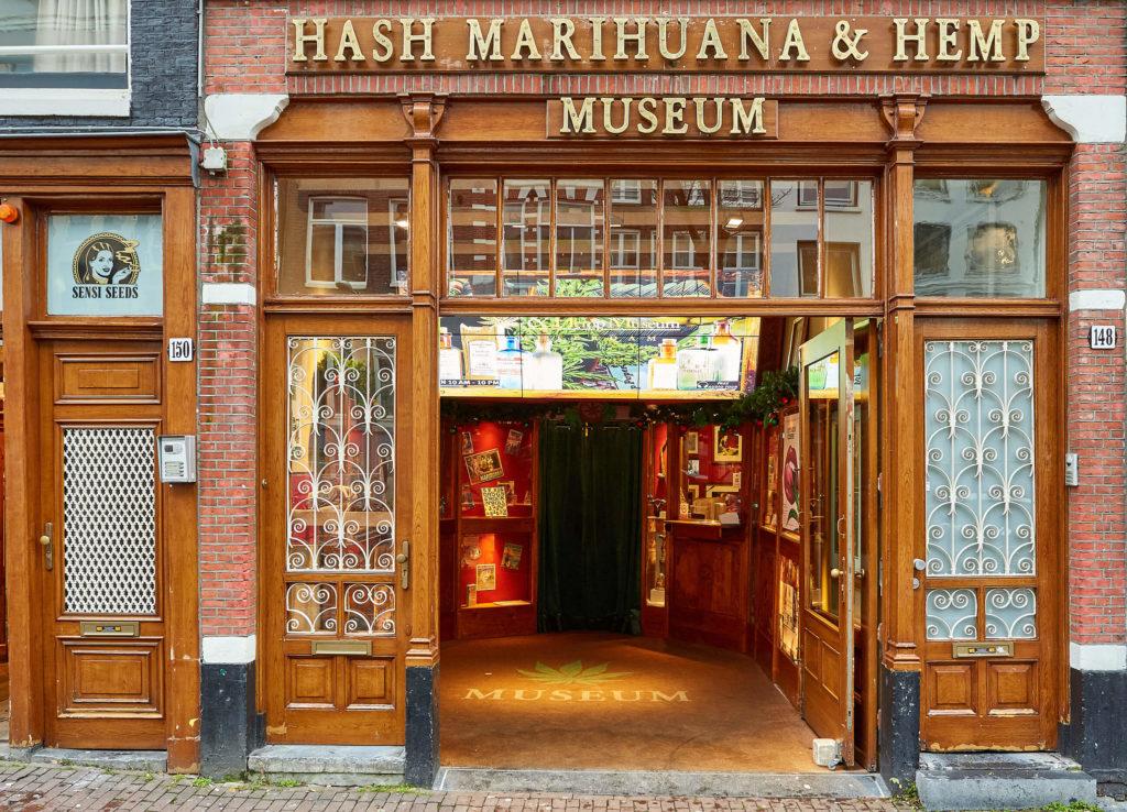 The entrance to the Hash Marihuana & Hemp Museum