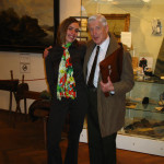 Shiva in the Museum Gallery with Dries van Agt after the presentation of the 2009 Cannabis Culture Award