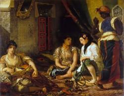 """""""The woman of Algiers"""" (1834) - Eugène Delacroix"""