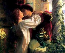 """""""Romeo und Julia"""", Gemälde von Frank Dicksee"""