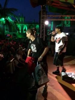 Sensi on stage with Methodman and Redman