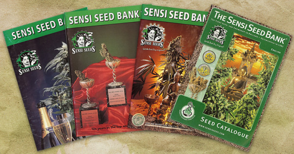 Sensi Seeds Kataloge aus den Jahren 1992 bis 2002.