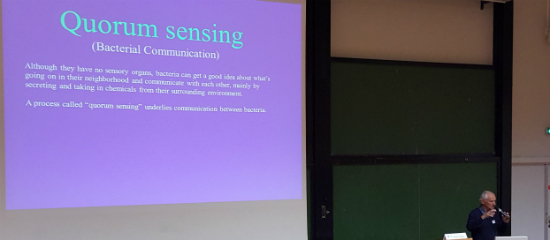 Prof. Lumír Hanuš discussing quorum sensing