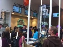 The Sensi Seeds booth