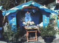 A cannabis vendor in Christiania, in 2002 (photo credit spirehuset.net)