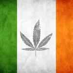 ireland flag and cannabis leave