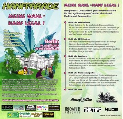 Flyer Hanfparade 2013
