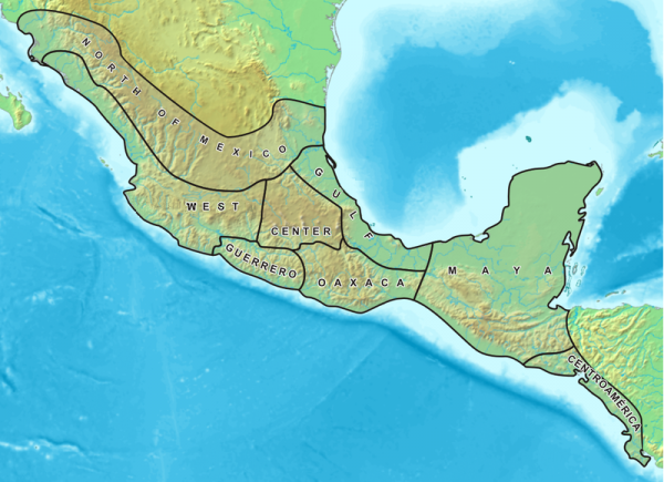 Mesoamerica - Source : Wikipedia