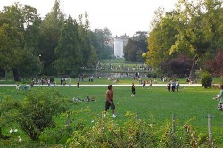 Parco Sempione in Milan often plays host to groups of young Italian cannabis smokers.