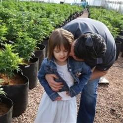 7 year old Charlotte Figi with her father Matt.