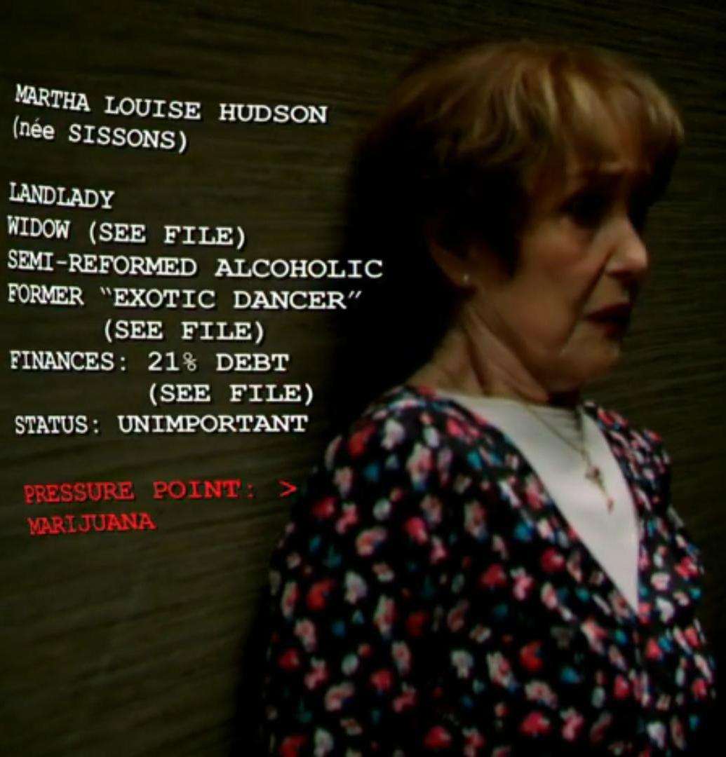Sherlock Holmes' legendary landlady turned cannabis enthusiast, Sherlock - © BBC